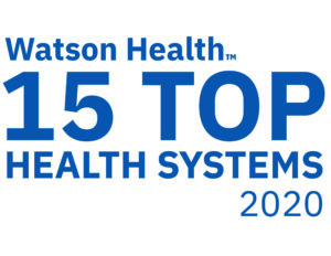 Logo for Watson Health 15 Top Health Systems 2020